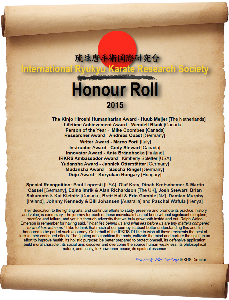 IRKRS Honour Roll